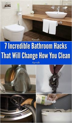 7 Incredible Bathroom Hacks That Will Change How You Clean If there I one chore around the house that I absolutely hate doing, it is cleaning the bathroom. And my house has three! Even the hall bathroom for guests which rarely gets used is a total. Bathroom Cleaning Hacks, Diy Cleaning Products, Cleaning Solutions, Cleaning Tips, Cleaning Recipes, Bad Hacks, Life Hacks, Cleaners Homemade, Diy Cleaners