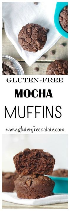 Wake up to a fresh baked batch of Gluten-Free Mocha Muffins! These muffins are super chocolatey and have hints of vanilla and coffee.