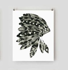 Hey, I found this really awesome Etsy listing at https://www.etsy.com/listing/212139049/print-native-american-feather-headdress