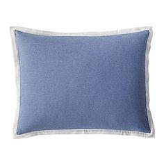 Wainscott Oxford Weave Shams – Chambray Blue #serenaandlily