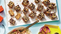 Chewy Peanut Bars: We weren't exactly excited to test our old microwave column recipes again, but these chocolate-peanut blondies truly surprised us.