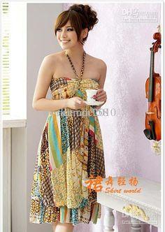 Summer bohemian floral casual dress