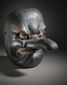 Hanging Mask Japan, late 16th-early 17th century Wood, lacquer | LACMA Collections