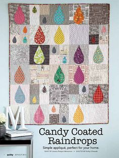Candy Coated Raindrops Quilt Pattern Download