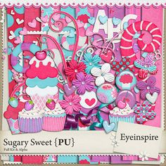 Free Digital Scrapbooking Kits | digital scrapbooking, scrapbook kit, cupcake, glitter, sparkle, ice ...