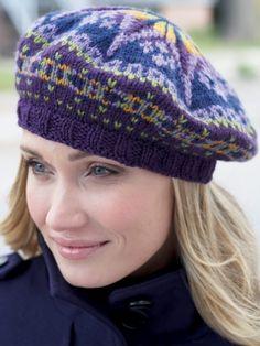 Fair Isle Tam | Yarn | Free Knitting Patterns | Crochet Patterns | Yarnspirations