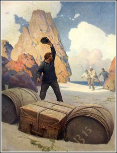 N. C. Wyeth || The Mysterious Island by Jules Verne