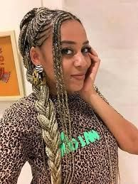 sho madjozi hairstyles - Google Search Black Girl Braided Hairstyles, Black Girl Braids, Girls Braids, Dreadlocks, Google Search, Hair Styles, Beauty, Fashion, Hair Plait Styles