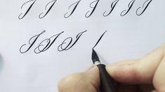 Modern Calligraphy Letter I