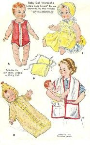 VINTAGE 19 20 DY DEE BABY DOLL CLOTHES Pattern 1900