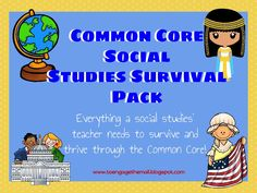 Are you a social studies teacher who is stressing over the Common Core? Fear not! In this bundle you will find everything the social studies teacher needs to implement the Common Core State Standards. You will find activities for argument writing and close reading for text complexity.