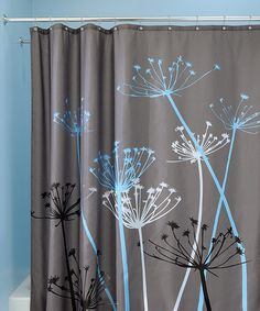 Gray & Blue Thistle Shower Curtain  Bathroom colors