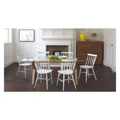 DUBLIN 6 seater oak and glass dining table