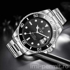 Ceas barbatesc automatic, marca Tevise, limbi fosforescente Rolex Watches