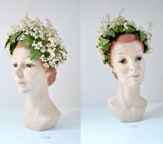1940s Lilly of The Valley Crown / 40s Floral Hat / Wedding Headband