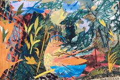 'The Forgotten Plot' by Mark Hearld, 2016 (mixed media with collage on paper)