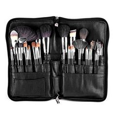 SanSiDo Makeup Brushes Bag 32 Pockets Cosmetic Bag Organizer PU Leather Apron Belt Strap Brush Holder for Cosmetic Tool -- You can find out more details at the link of the image.