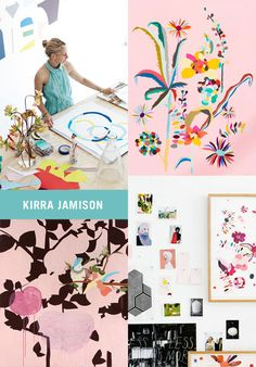kirra-jamison-artwork --- Would love some prints of her work for over the fireplace in our playroom. So pretty and fanciful.