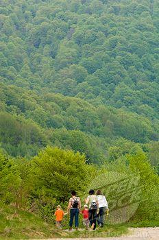 SuperStock - Hiking Around Wielka Rawka, Bieszczady Mountains, Poland