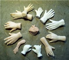 Hand, Hand, Finger, Thumb - Doll Street Dreamers class - in paper clay & polymer Sculpting Tutorials, Doll Making Tutorials, Clay Tutorials, Making Ideas, Polymer Clay Figures, Polymer Clay Sculptures, Polymer Clay Dolls, Bjd, Toy Art