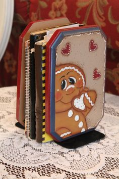 Gingerbread Book EndsHandpaintedKitchen by CraftsByJoyice on Etsy, $24.95