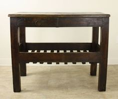 Rustic Antique French Server | From a unique collection of antique and modern farm tables at https://www.1stdibs.com/furniture/tables/farm-tables/