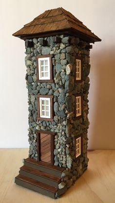 Fairy Jars, B 13, Tiny World, Pretty Nail Art, Stone Houses, House Made, Fairy Houses, Garden Crafts, Little Houses