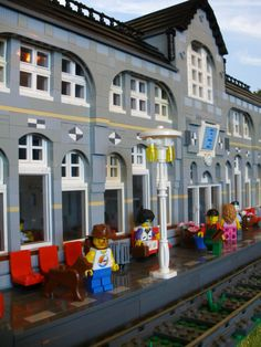 Train station. If I had this, I would photograph it everyday with new minifigures. I would never leave my home.