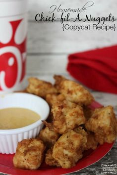 Copycat Chick Fil A Chicken Nuggets Recipe! MMmm! Perfect Dinner Recipe or Lunch Chicken Recipe for Kids and adults!