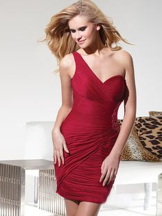 $68.99 【Everytide.com】Wholesale Red Sheath / Column Homecoming Dresses Boutiques Online