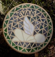 Angel Baby Memorial Stepping Stone. $75.00, via Etsy.