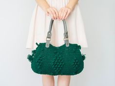 BAG // Teal Bag Green Bag Winter Bag Shoulder Bag  by Sudrishta,