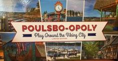 Liberty Bay Books | North Kitsap's locally owned Independent Book Store, Poulsbo-opoly game, just like Monopoly, but all the properties are ALL Poulsbo businesses. cost $40. Proceeds go to the Poulsbo Soroptimist's club supporting local women & children