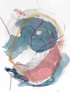A growing collection of work exploring the winding and widening of circular movement, and the impact that can have on a viewers sense of connection. This body o Abstract Watercolor, Watercolor And Ink, Abstract Art, Town Drawing, Land Art, Doodle Art, Abstract Expressionism, Art Inspo, Modern Art