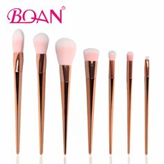 BQAN New Makeup Cosmetic Brushes Set Sythetic Unicorn Design Face Powder Blush Foundation Eyeshadow Eyeliner Lip Brush Brush Kit, Lip Brush, Makeup Brush Set, Sticky Bra, Eyeliner, Eyeshadow, Cosmetic Brush Set, Rose Gold Makeup, Blush