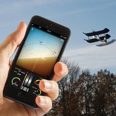 Forget an oversize antennaed controller. Take to the skies within a range of 60 meters with hand movements via your smartphone. SmartPlane App Enabled Plane, about $70; TobyRich, Fab