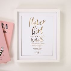 Thank you to our Flower Girl 🌷 Say 'thank you' to your Flower Girl with our stylish foil print. Available in Gold Foil, Rose Gold, Silver Foil Copper Foil or Black Gloss. Tap to shop 👆🏼 . Foil Art, Rose Gold Foil, Anniversary Gifts, Wall Art Prints, Personalized Gifts, Wedding Gifts, Lily, Frame, Instagram Posts