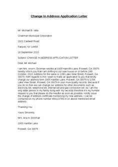 English Job Application Letter Example Letters For Business