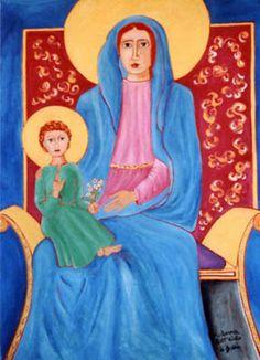 Madonna dell'aiuto di Bobbio - olio su tela (100x120 cm)