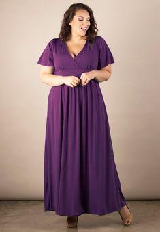 Women's Plus Size Dress   Classic Maxi Dress in Eggplant   SWAK Designs
