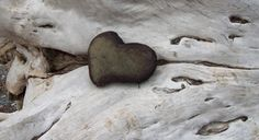 Josie Iselin: Gaspe Canada Heart Stone from Gert Cote