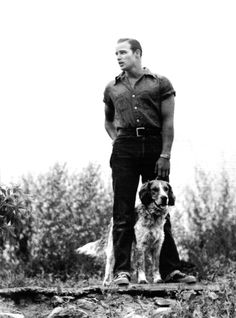 Marlon Brando may be the hottest badass ever AND he has a dog...shesh, someone get a fire extinguisher!