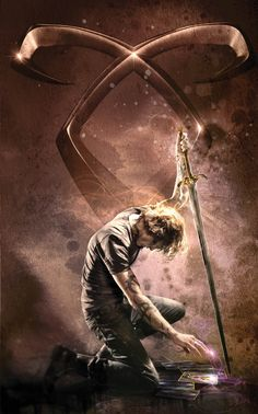 New City of Bones cover art: Jace with Angelic Power rune