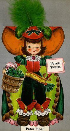 Peter Piper - Land of Make Believe. Vintage Birthday Cards, Vintage Greeting Cards, Vintage Postcards, Vintage Pictures, Vintage Images, Peter Piper, Old Cards, Vintage Fairies, Hallmark Cards