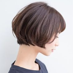 Pin on ヘアスタイルのアイデア Haircuts For Long Hair With Bangs, Short Hair Cuts For Women, Short Hairstyles For Women, Hairstyles With Bangs, Japanese Haircut Short, Hair Arrange, Hair Dos, Curly Hair Styles, Hair Beauty