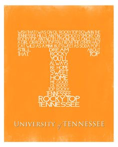 INSTANT Download, University of Tennessee Fight Song Wall Art Printable, No. 78