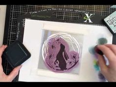 Sweet Poppy Stencils - Hare Circle with Distress and Archival inks - YouTube Lavinia Stamps, Hare, Handmade Cards, Poppy, Stencils, Tutorials, Crafty, Sweet, Youtube