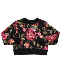 Dolce & Gabbana Cotton sweatshirt with embroidery (615 AUD) ❤ liked on Polyvore featuring tops, hoodies, sweatshirts, multi, button sweatshirt, long sleeve cotton tops, button top, floral sweatshirts and dolce gabbana sweatshirt