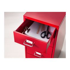 HELMER Drawer unit on casters IKEA Slot for label on each drawer so you can easily keep things organized and find what you are looking for.