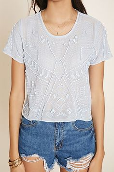 Bead-Embroidered Top